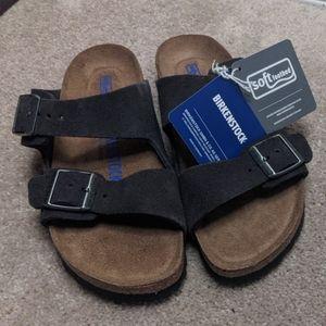 New Birkenstock Arizona soft footbed suede sandals